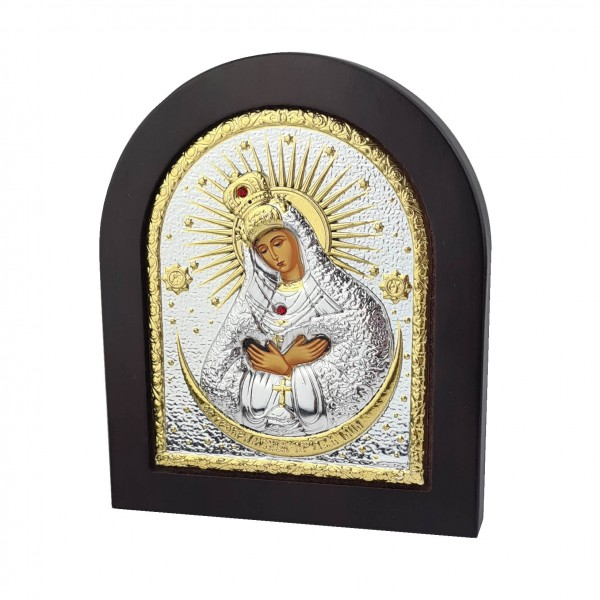 Sudraba ikona Ostrobramas Dievmāte 11x13 cm