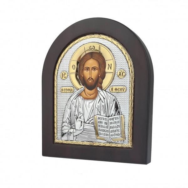 Sudraba ikona Kristus Glābējs 11 x 13 cm