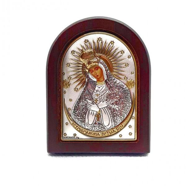 Sudraba ikona Ostrobramas Dievmāte 5,5 x 7 cm