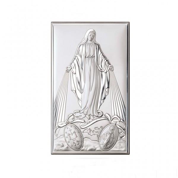 Sudraba svētbilde Brīnumaina Dievmāte 6,5x11 cm