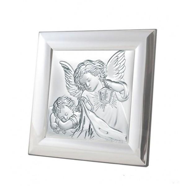 Sudraba ikona Sargeņģelis 12 x 12 cm