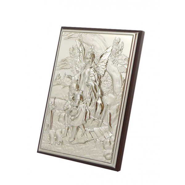 "Sudraba ikona ""Sargeņģelis"" 13 x 17 cm"