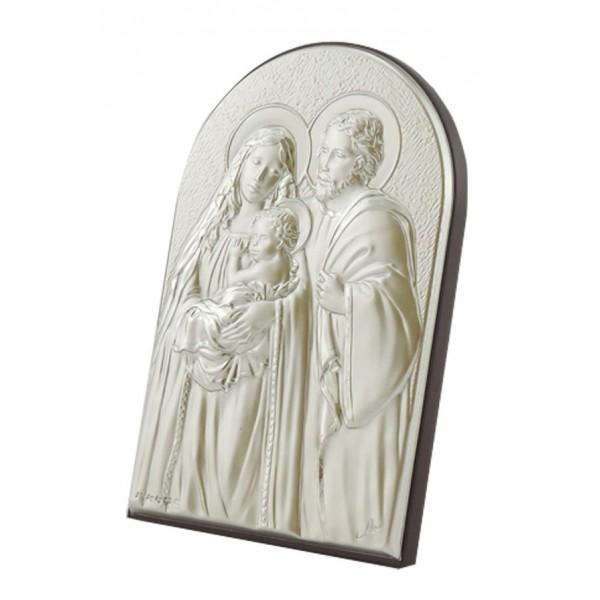 "Sudraba ikona ""Svētā Ģimene""  8 x 12 cm"