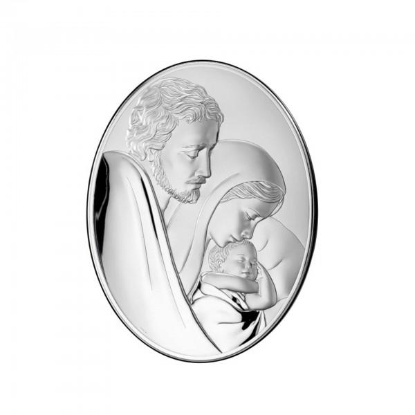"Sudraba ikona ""Svētā Ģimene"" 10 x 13 cm"