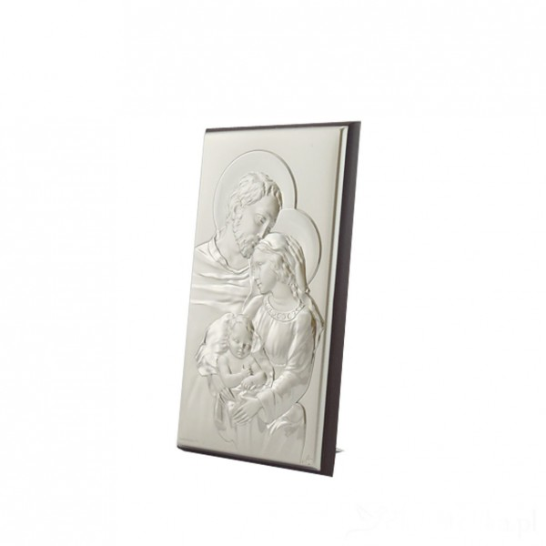 "Sudraba ikona ""Svētā Ģimene"" 5,5 x 9 cm"