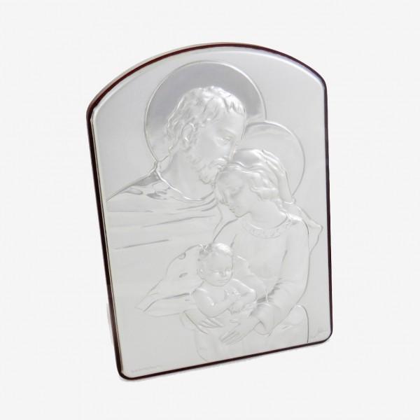 Sudraba svētbilde Svētā Ģimene 6x9 cm