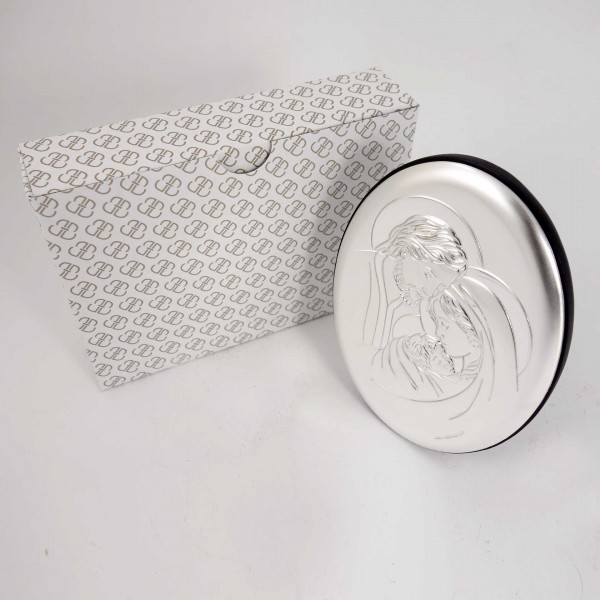"Sudraba ikona ""Svētā Ģimene"" 9,5 x 13 cm"