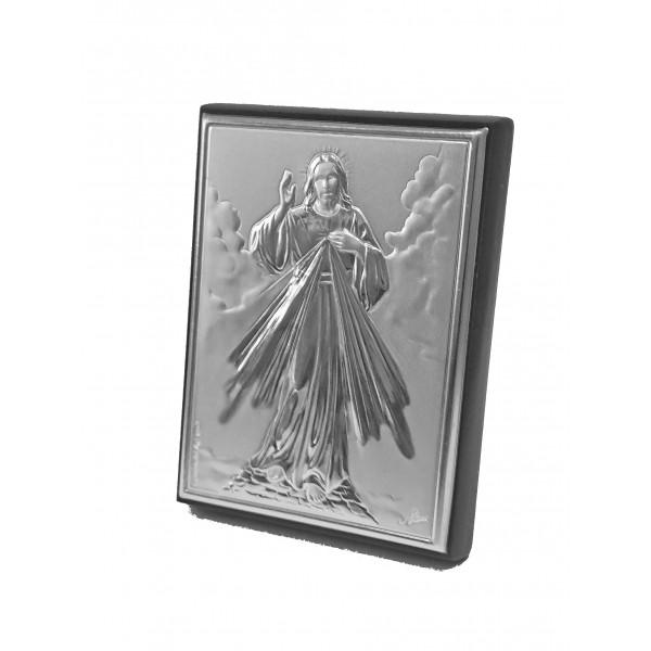 Sudraba ikona Žēlsirdīgais Jēzus 5,5 x 7,5 cm