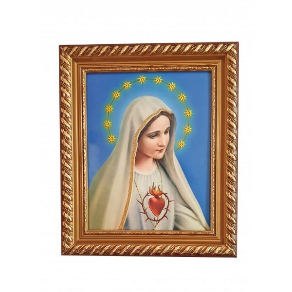 """Svētbilde rāmī """"Brīnumaina Dievmāte""""  27 x 32 cm"""