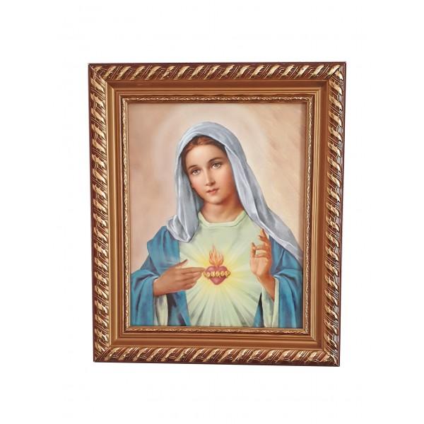 Svētbilde Vissvētākās Jaunavas Marijas sirds 30 x 25 cm