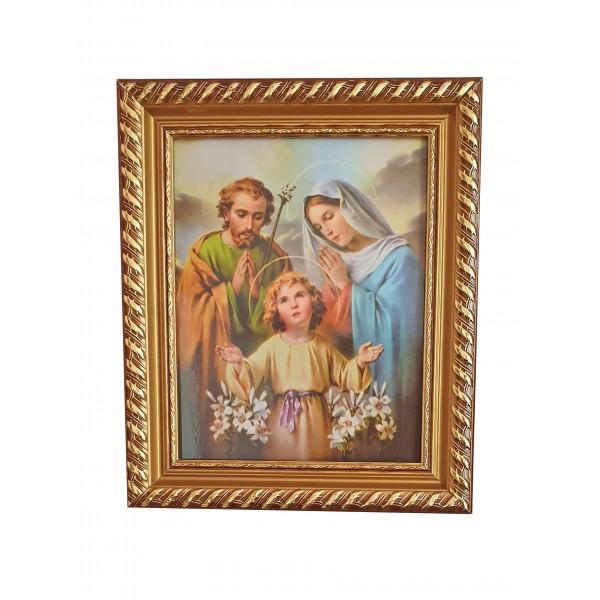 """Svētbilde """"Svētā ģimene"""" 27 x 32 cm"""