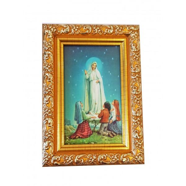 """Svētbilde  """"Fatimas Dievmāte """" 9 x 13 cm"""