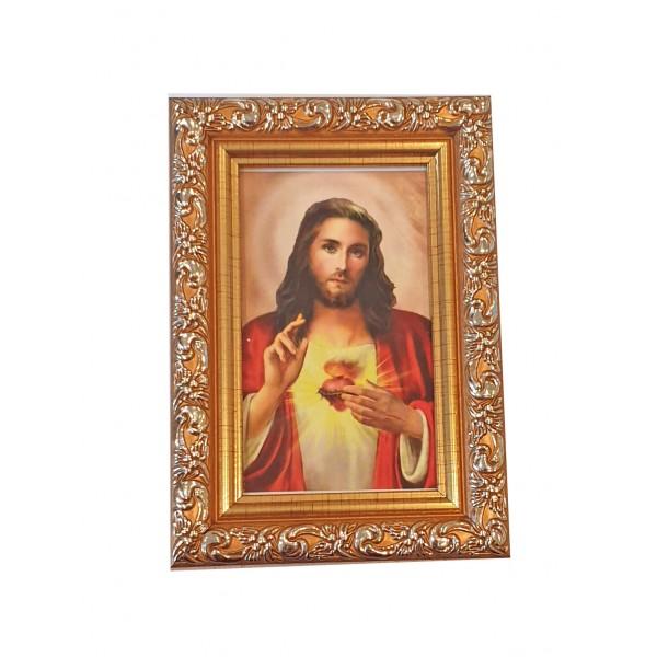 """Svētbilde  """"Vissvētākā Jēzus Sirds"""" 9 x 13 cm"""