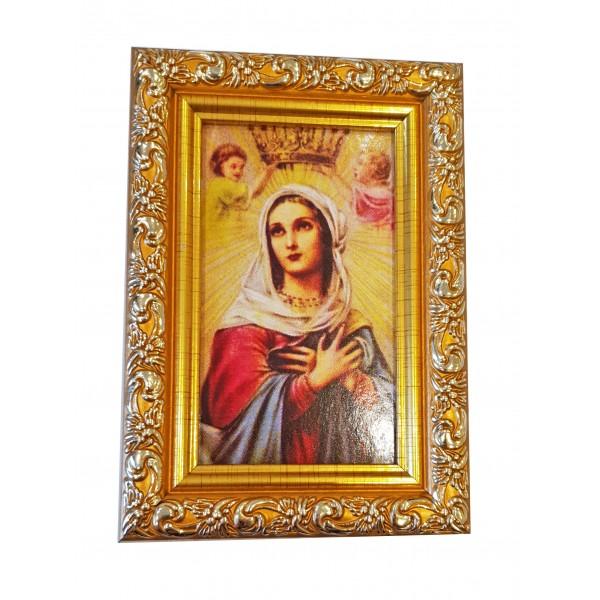"""Svētbilde """"Vissvētākā Jaunava Marija"""" 9 x 13 cm"""