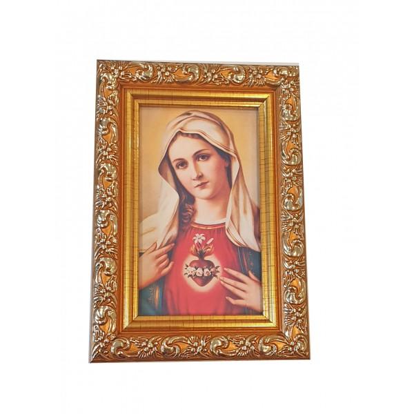"""Svētbilde  """"Vissvētākā Marijas Sirds"""" 9 x 13 cm"""