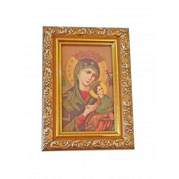 Nemitīgās Palīdzības Dievmātes svētbilde rāmī  9 x 13 cm