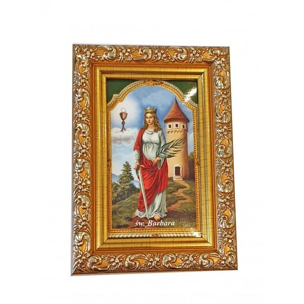 """Svētbilde  """"Svētā Barbara"""" 9 x 13 cm"""