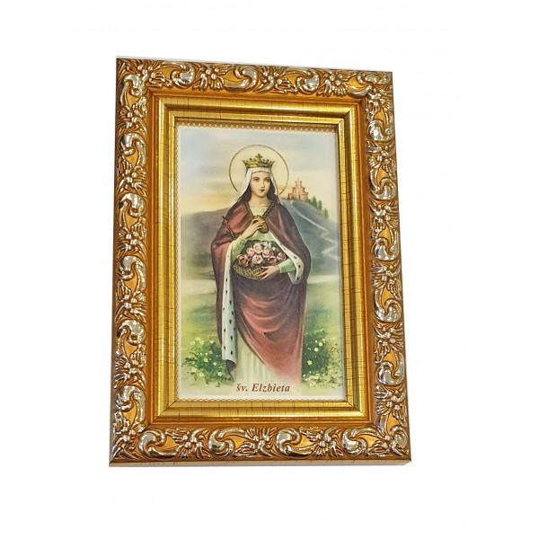 """Svētbilde  """"Svētā Elizabete"""" 9 x 13 cm"""