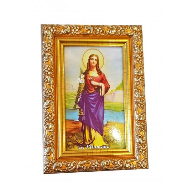 """Svētbilde  """"Svētā Filomena"""" 9 x 13 cm"""