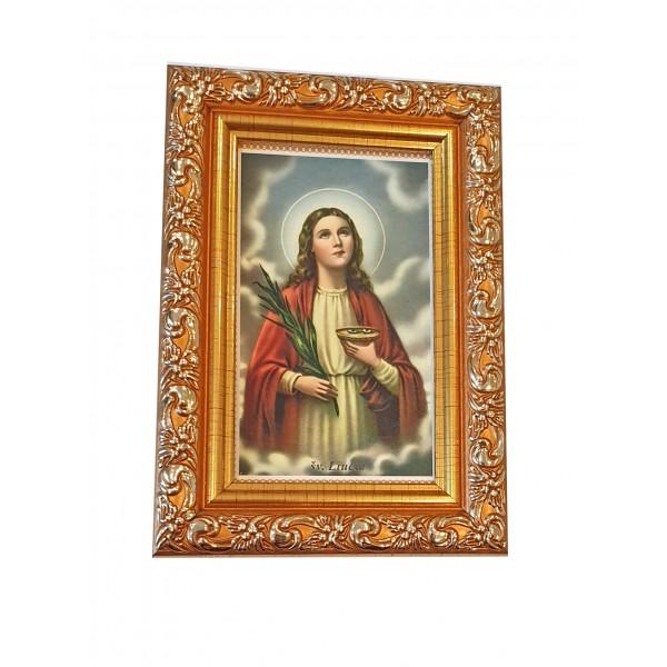 """Svētbilde  """"Svētā Lūcija"""" 9 x 13 cm"""