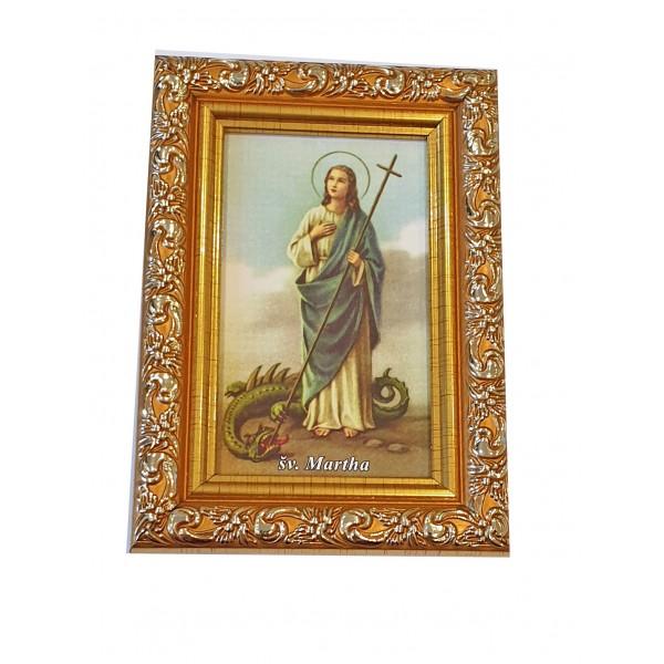 """Svētbilde  """"Svētā Marta"""" 9 x 13 cm"""