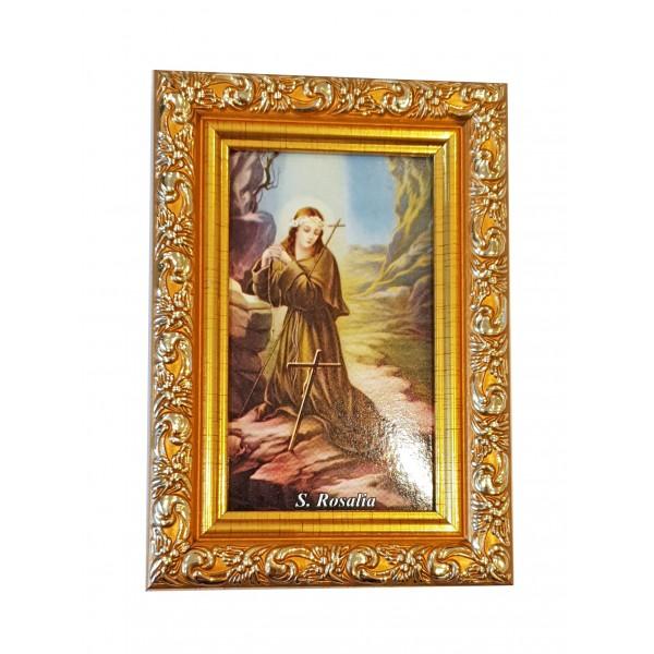 """Svētbilde  """"Svētā Rozālija"""" 9 x 13 cm"""