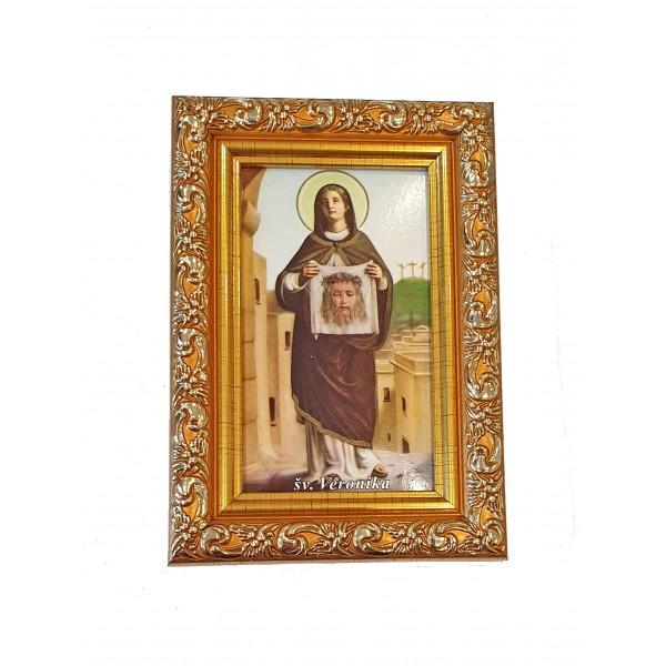 """Svētbilde  """"Svētā Veronika"""" 9 x 13 cm"""