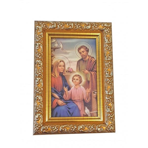 """Svētbilde """"Svētā ģimene"""" 9 x 13 cm"""