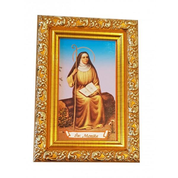 """Svētbilde  """"Svētā Monika"""" 9 x 13 cm"""