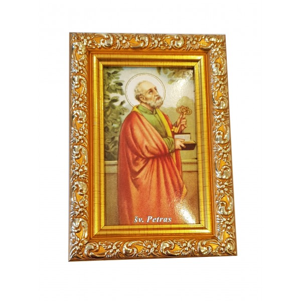 """Svētbilde  """"Svētais Pēteris"""" 9 x 13 cm"""
