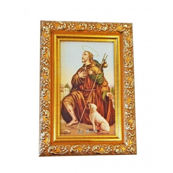 """Svētbilde  """"Svētais Rohs"""" 9 x 13 cm"""