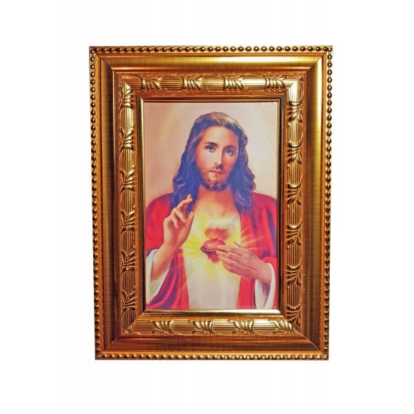 """Svētbilde """"Vissvētākā Jēzus Sirds"""" 16,5 * 21,5 cm"""