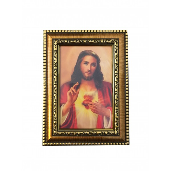 """Svētbilde """"Vissvētākā Jēzus Sirds"""" 14,5 x 20 cm"""