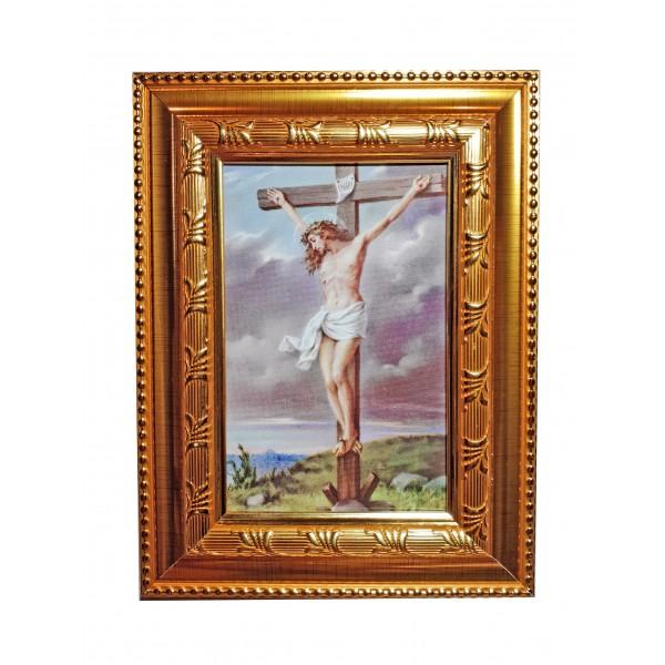 """Svētbilde """"Jēzus uz krusta"""" 16,5 * 21,5 cm"""