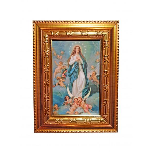 """Svētbilde """"Vissvētākās Jaunavas Marijas uzņemšana debesīs"""" 16,5 * 21,5 cm"""