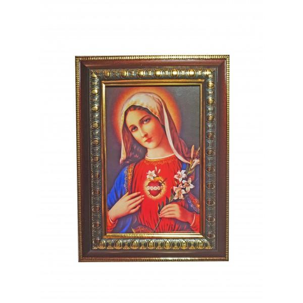 """Svētbilde """"Vissvētākās Jaunavas Marijas sirds"""" 14,5 x 20 cm"""