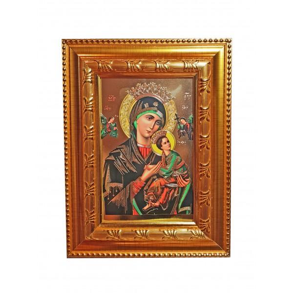 Nemitīgās Palīdzības Dievmātes svētbilde rāmī 16,5 * 21,5 cm