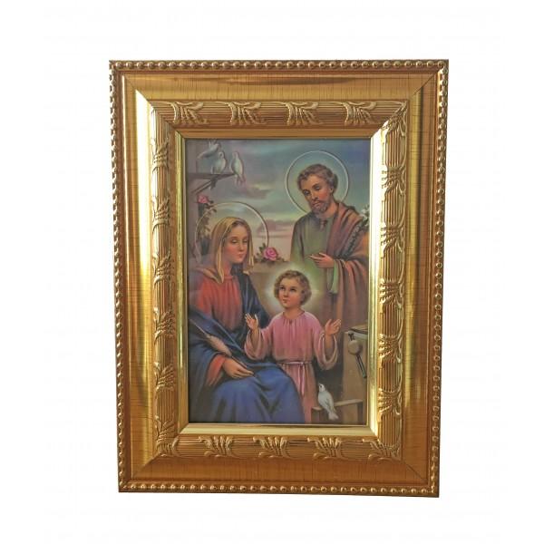 """Svētbilde """"Svētā ģimene"""" 16,5 x 21,5 cm"""