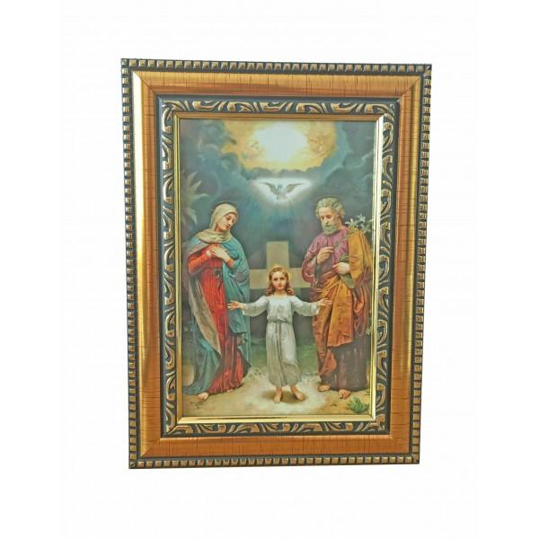 """Svētbilde """"Svētā ģimene"""" 14,5 x 19,5 cm"""
