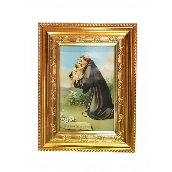 """Svētbilde """"Svētais Antons ar Jēzus Bērnu"""" 16,5 * 21,5 cm"""