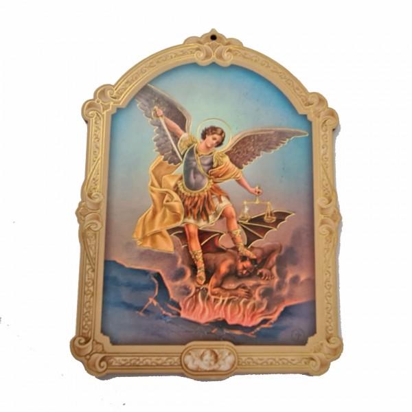 Svētbilde uz plāksnes Erceņģelis Miķelis 10,5 x 14,5 cm