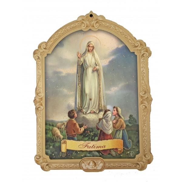 """Svētbilde uz plāksnes """"Fatīmas Dievmāte"""" 10 x 14 cm"""