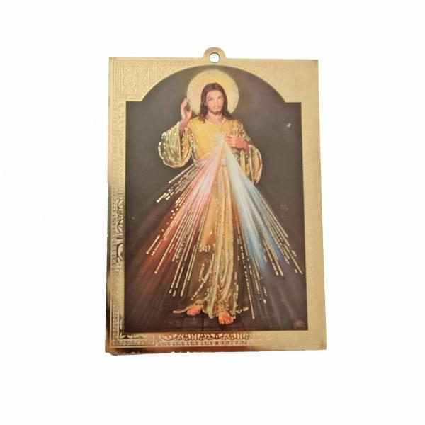 Žēlsirdīgais Jēzus svētbilde uz plāksnes 10 x 13,5 cm