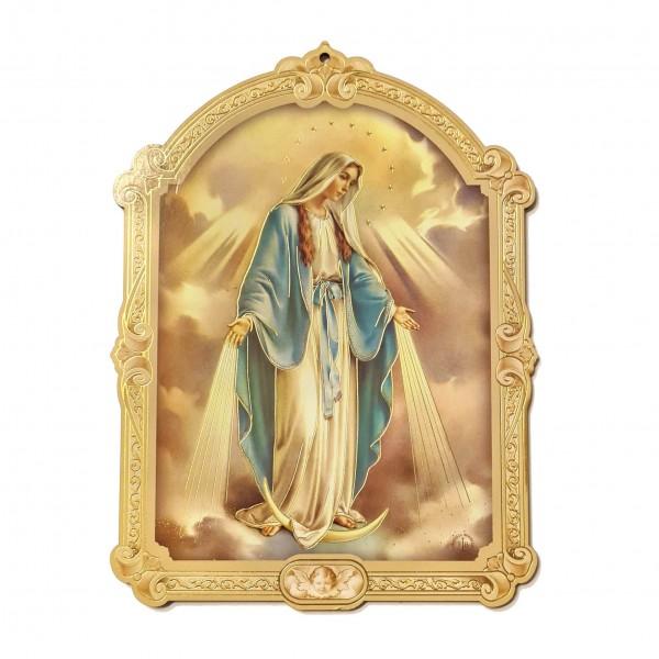 Svētbilde uz plāksnes Brīnumaina Dievmāte 17 x 23 cm