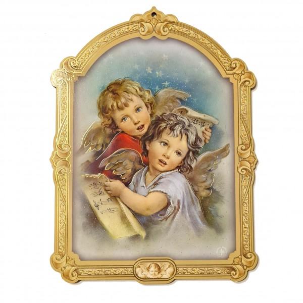 Svētbilde uz plāksnes Sargeņģelis 17 x 23 cm