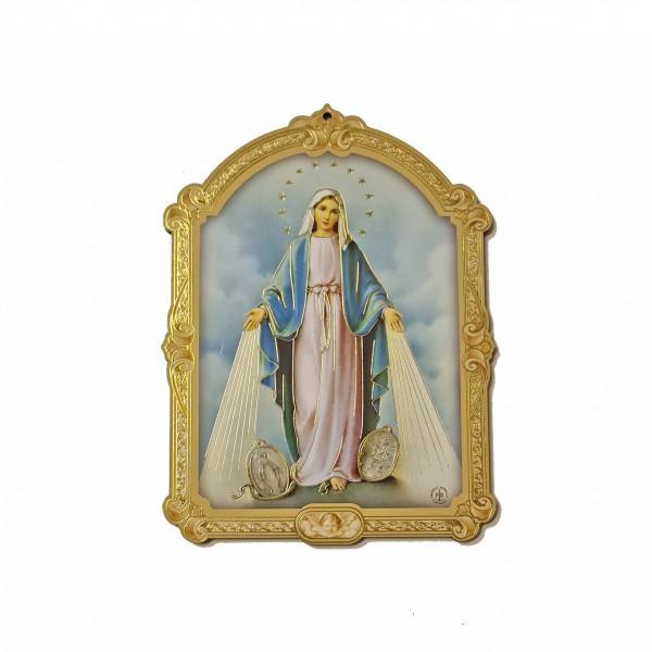 Svētbilde uz plāksnes Brīnumaina Dievmāte 10 x 14 cm