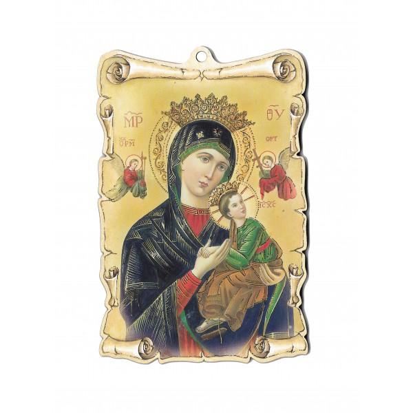 Svētbilde Nemitīgās Palīdzības Dievmāte uz plāksnes 9,5 x 14 cm
