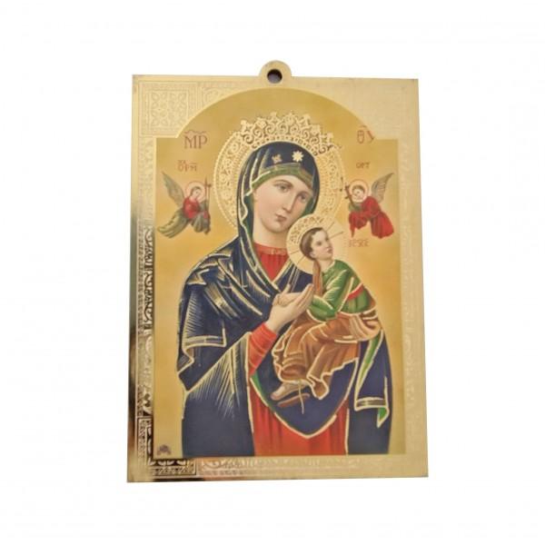 Nemitīgās Palīdzības Dievmāte svētbilde uz plāksnes 10 x 13,5 cm