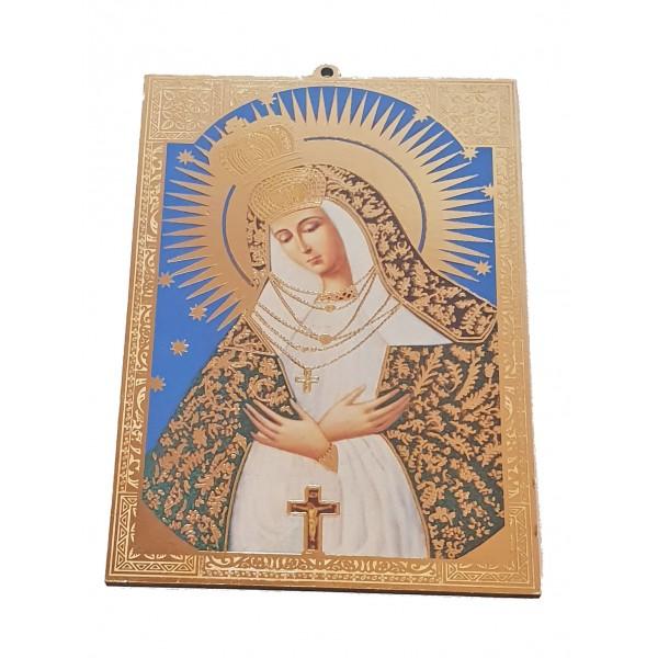 Svētbilde Ostrobramas Dievmāte uz plāksnes 9,5 x 14 cm