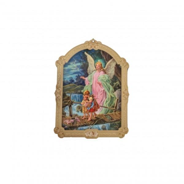 Sargeņģelis svētbilde uz plāksnes 7 x 9.5 cm